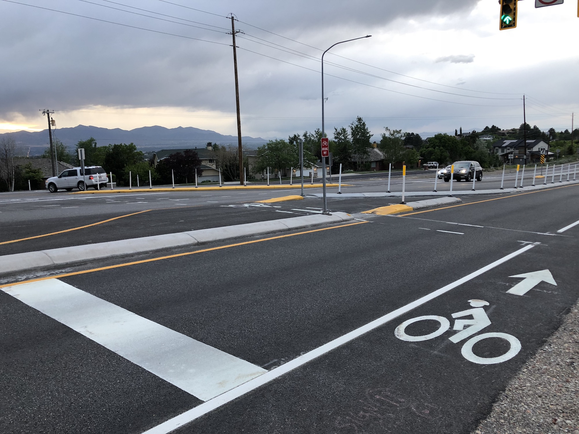 UDOT is proposing to make Wasatch Blvd 5 lanes with a high design speed. Photo by Dave Iltis