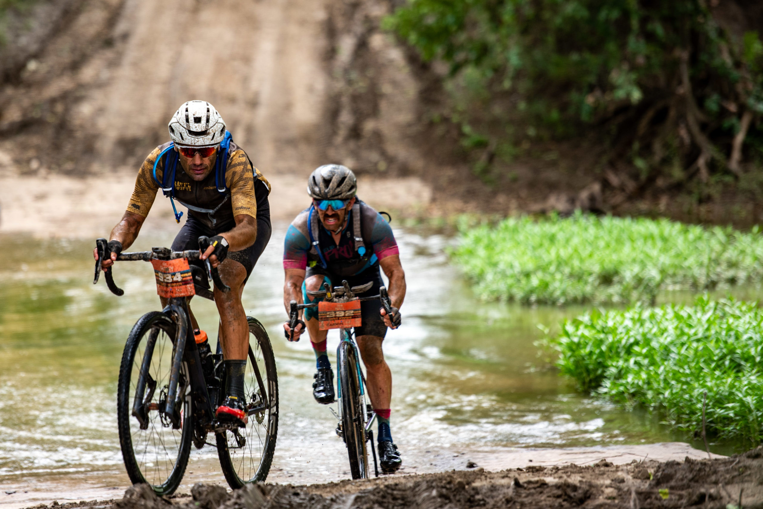 Gravel racing at the UNBOUND Gravel event in Emporia, Kansas. Photo by Ian Matteson