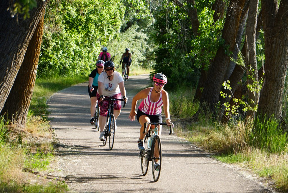 On a group ride with Wildflower Outdoor. Photo courtesy Wildflower Outdoor.