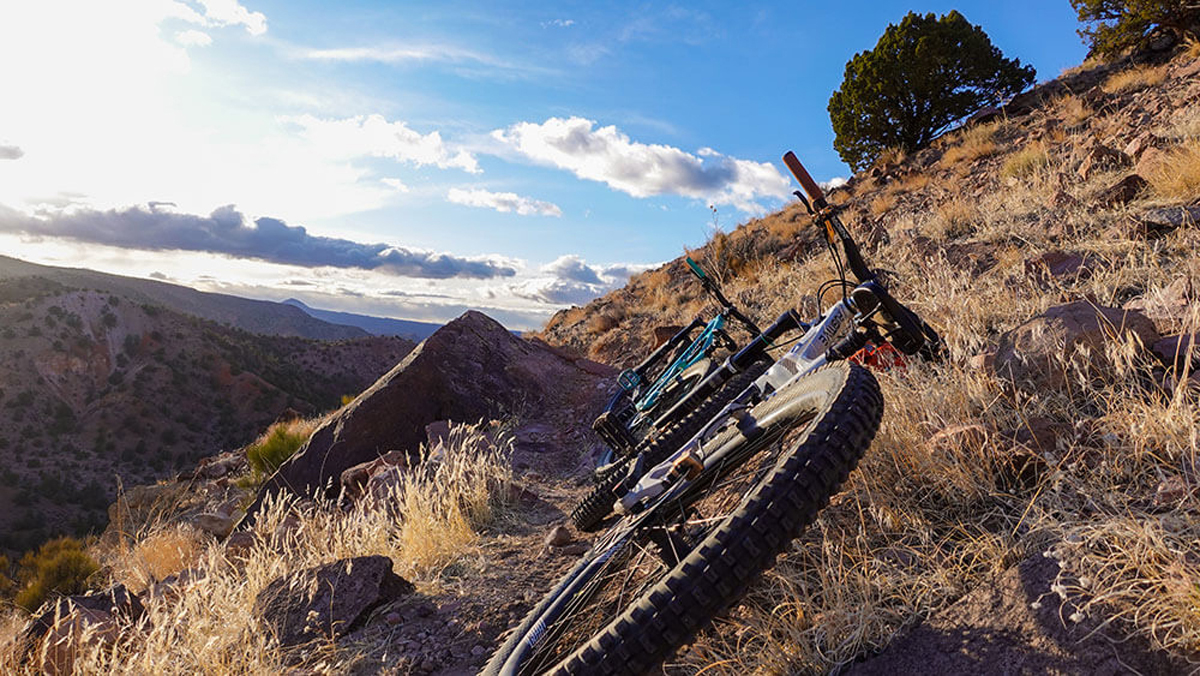 Barnes Canyon mountain biking, Caliente, Nevada. Photo courtesy Danica Fife