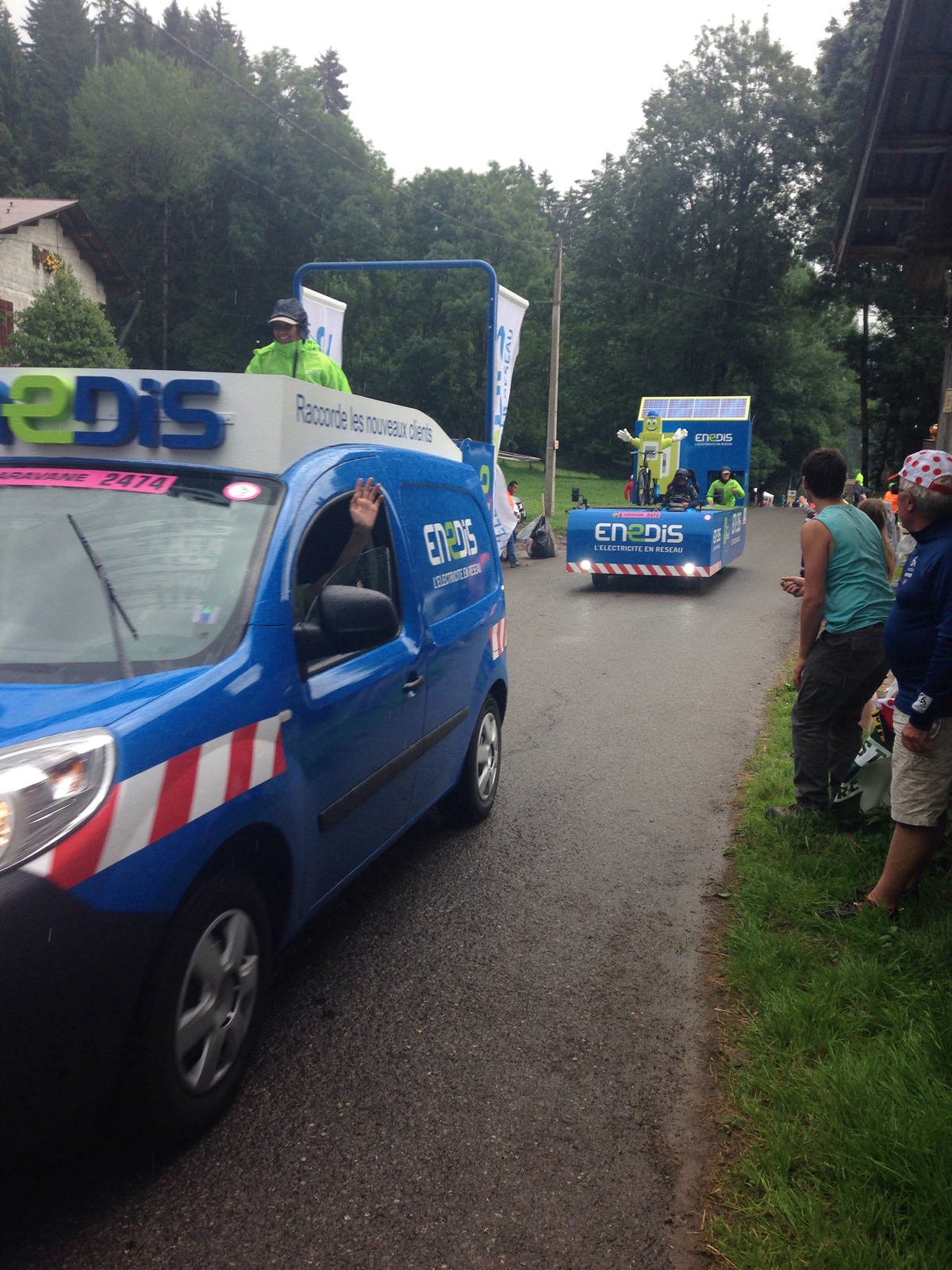 Sponsors in the caravan at the 2016 Tour de France. Photo by Enrique Arce-Larreta