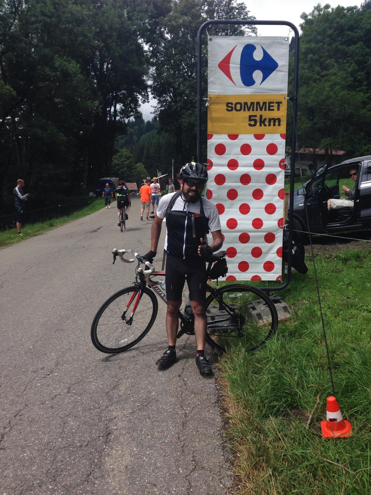 Enrique Arce-Larreta with 5 km to go to the top of the climb. Photo courtesy Enrique Arce-Larreta