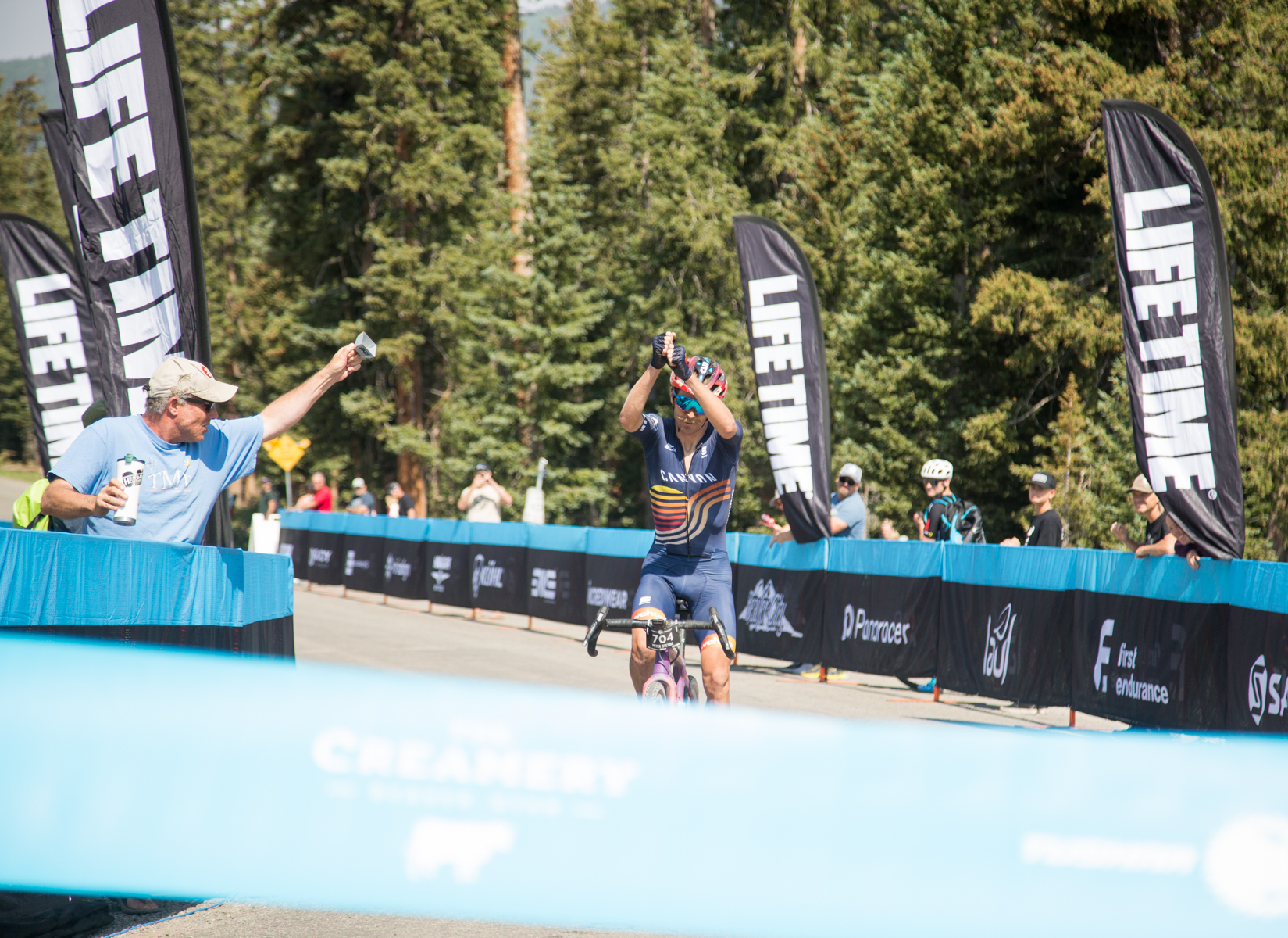 Peter Stetina takes the Mens' Pro-Open win at the 2021 Crusher in the Tushar. Photo courtesy Life Time