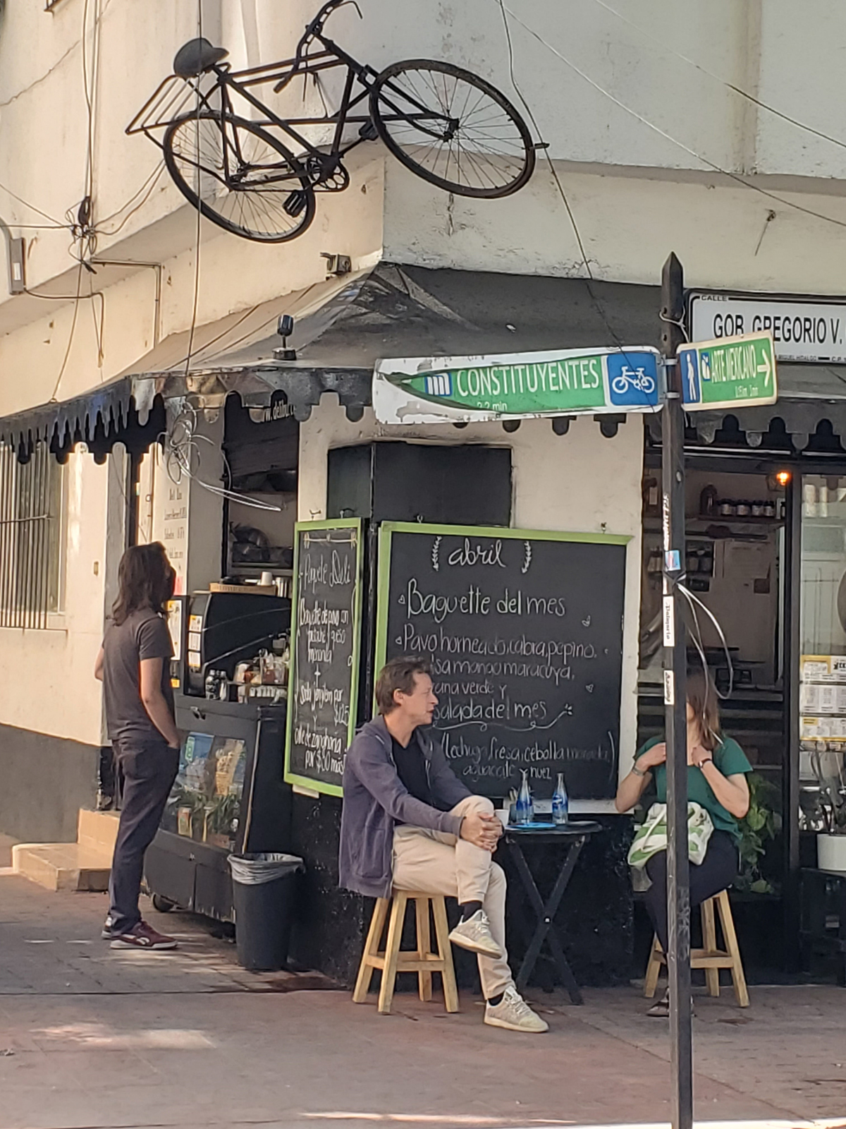 A bicycle deli on a bicycle street. Photo by David Ward