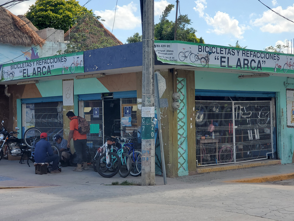 A bike shop in Mexico City. Photo by David Ward