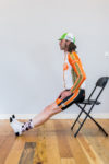 Figure 3:  Simple Seated Hamstring Stretch. Photo by Erik Moen