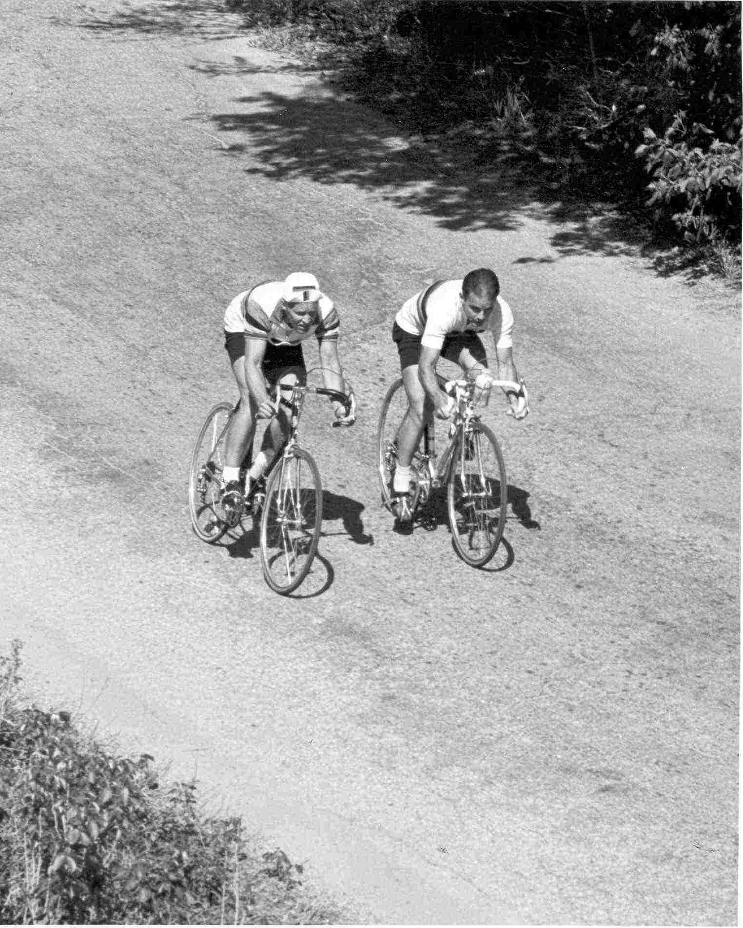 Pete Locke and Jan Hyde - Pose for publication Memorial Day Race circa 1964. Photo courtesy Jan Hyde