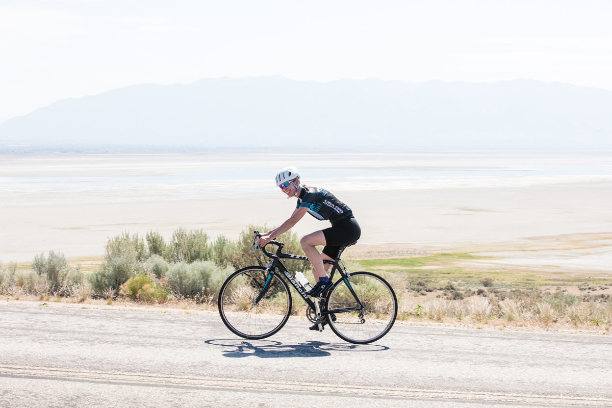 Rosann Greenway at the Antelope Island Road Race. Photo by Julie Kirby Photography