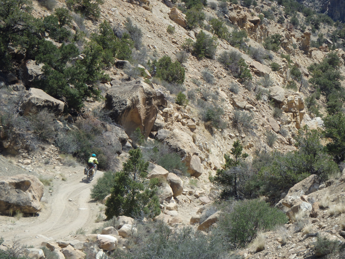 Ashely Patterson descending Skyline Drive in Central Utah. Photo by Tom Diegel