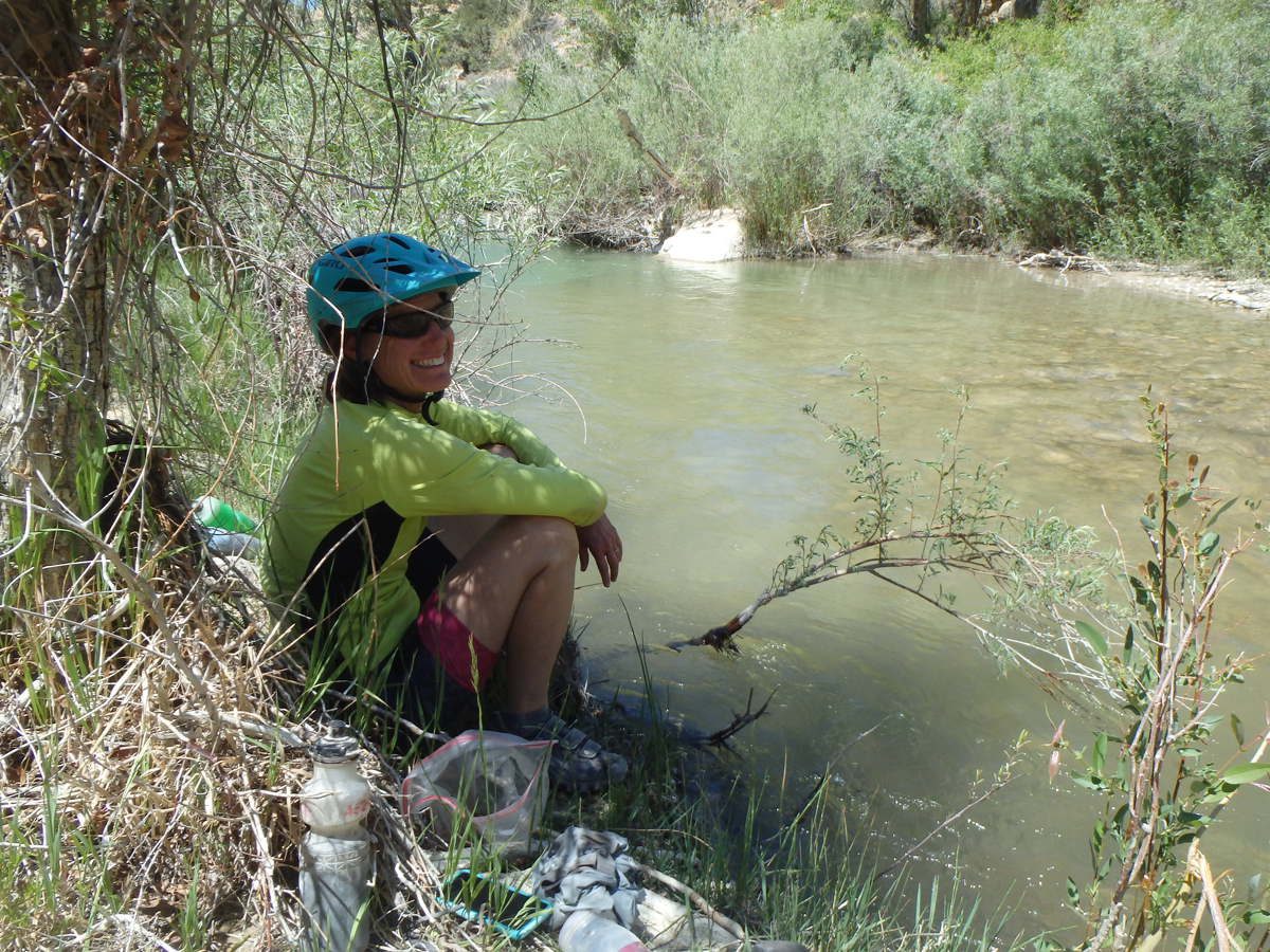 Taking a break by the river. On Skyline Drive in Central Utah. Photo by Tom Diegel