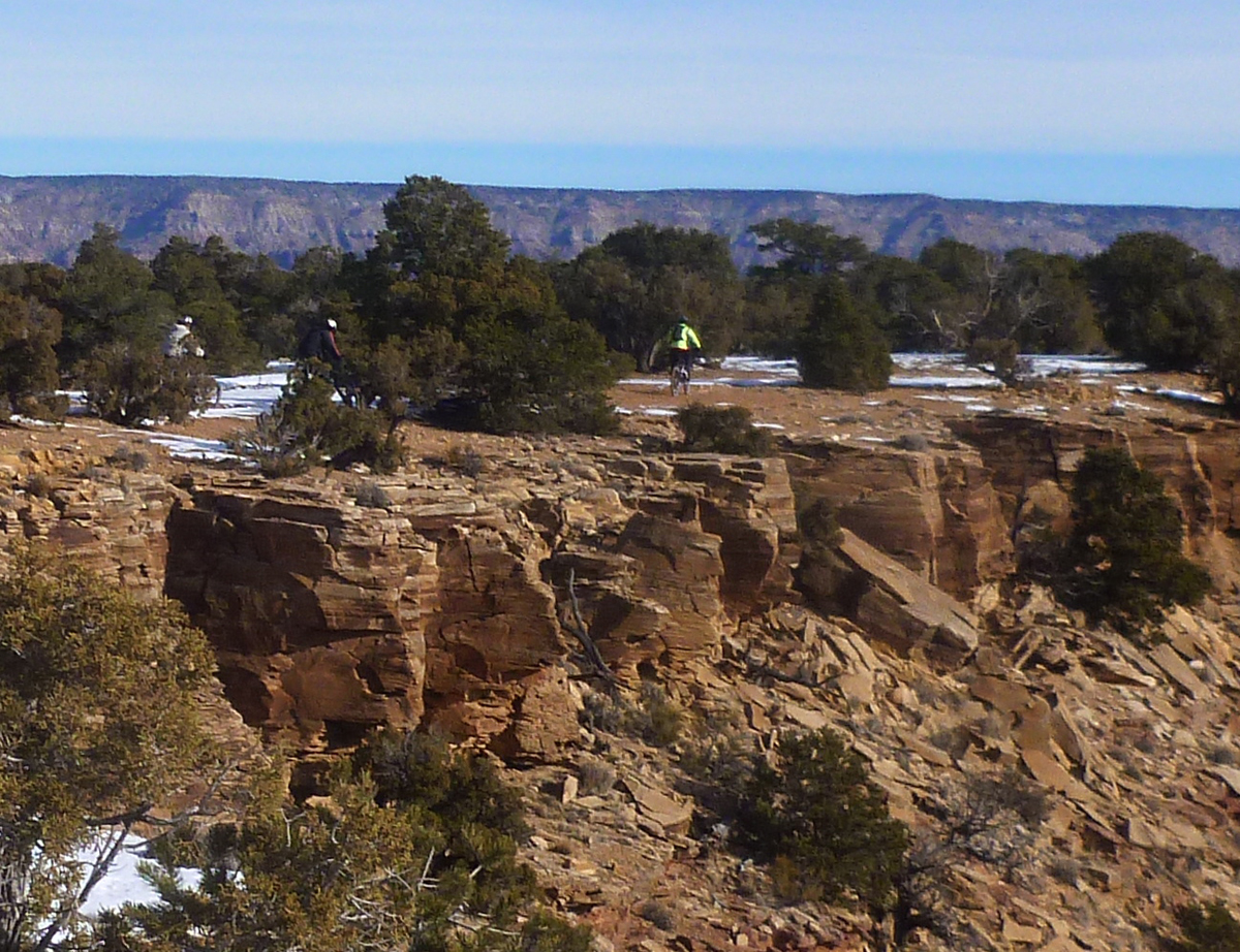 Riders on the Goodwater Trail in Utah's San Rafael Swell. Photo by Kim Player/MECCA Bike Club