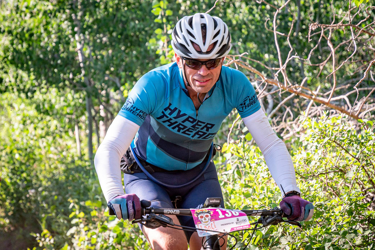 Scott Stanger competed in the solo division in the El Doce 12 Hour MTB race in Ogden, Utah on July 17, 2021. Photo by Austin Luckett, Iron and Pine.