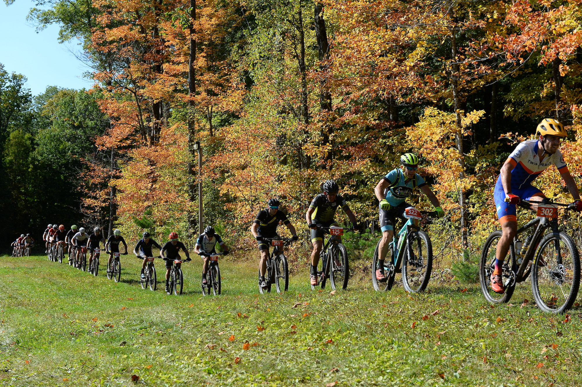 Riders at the 38th Annual Chequamegon MTB Festival, Chequamegon, Wisconsin. Photo courtesy Life Time
