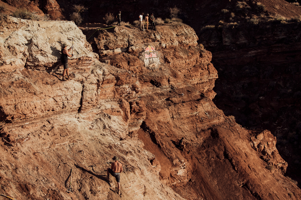 Brandon Semenuk riding the course during the Red Bull Rampage in Virgin, Utah, USA on 10 October, 2021. Photo courtesy Red Bull Content Pool